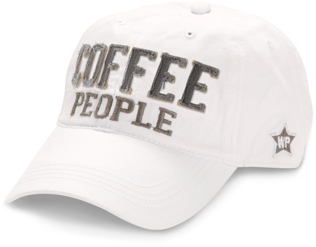 "White ""Coffee People"" Hat"