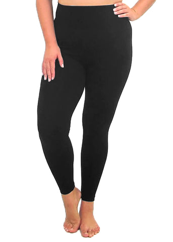 Plus Size Black High Waisted Leggings