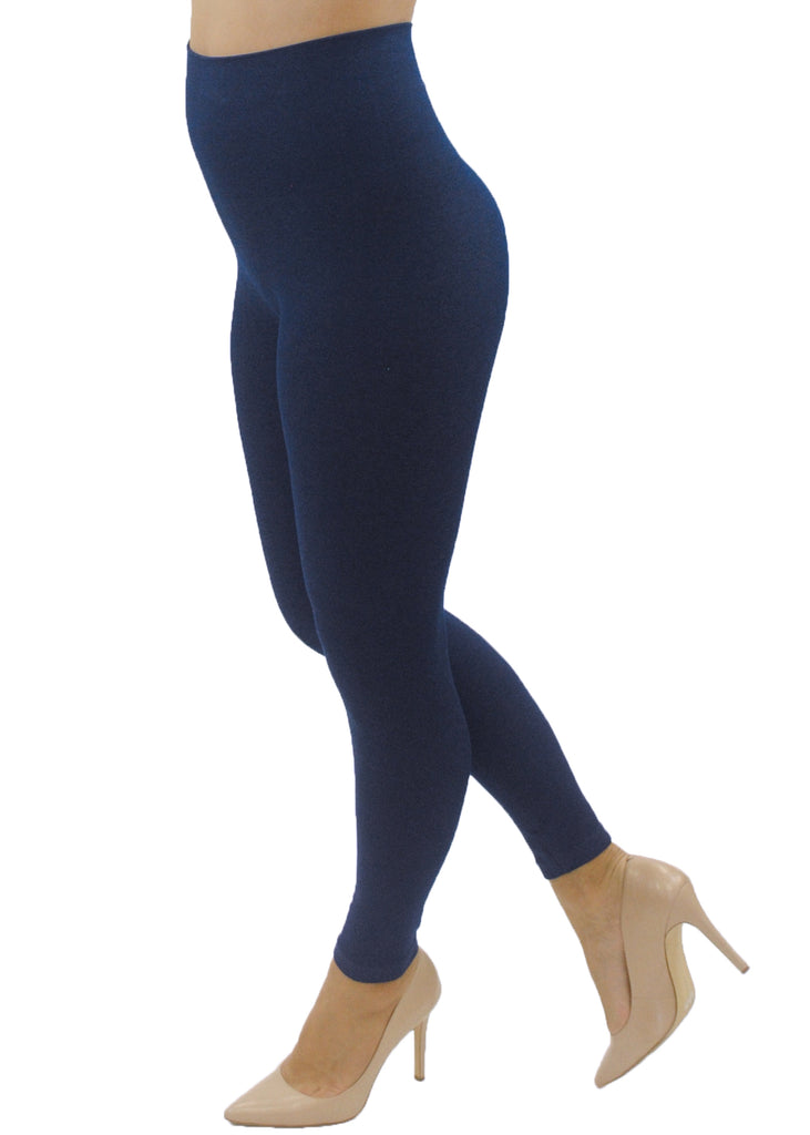 Navy High-Waisted Leggings