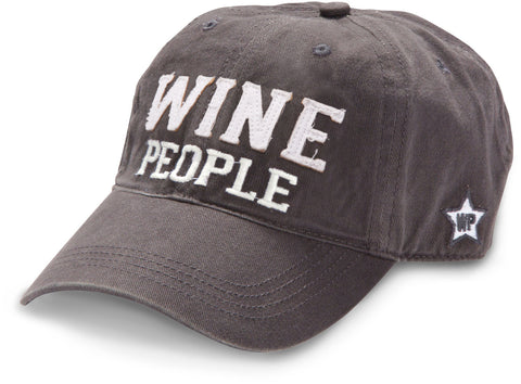 "Gray ""Wine People"" Hat"
