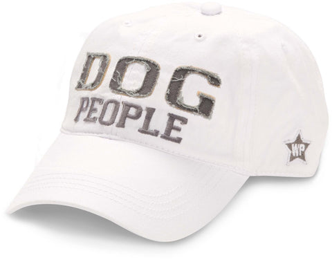 "White ""Dog People"" Hat"