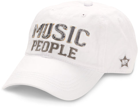 "White ""Music People"" Hat"