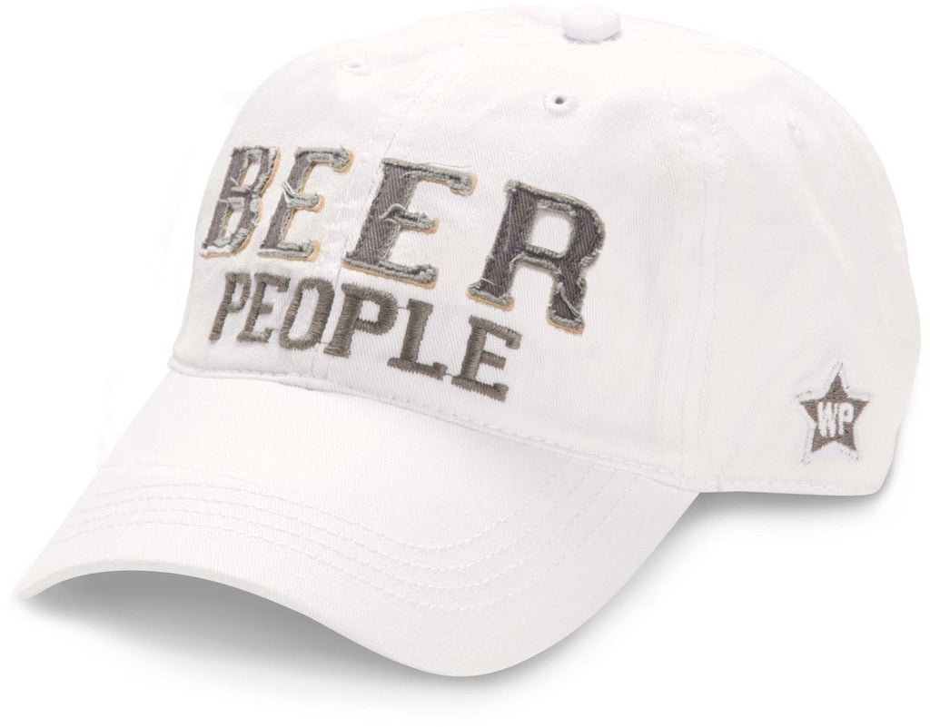 "White ""Beer People"" Hat"