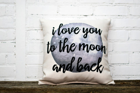 """Love You To The Moon"" Throw Pillow"