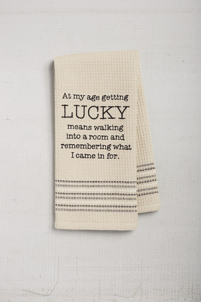 """Lucky"" Dishtowel"