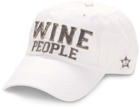 "White ""Wine People"" Hat"