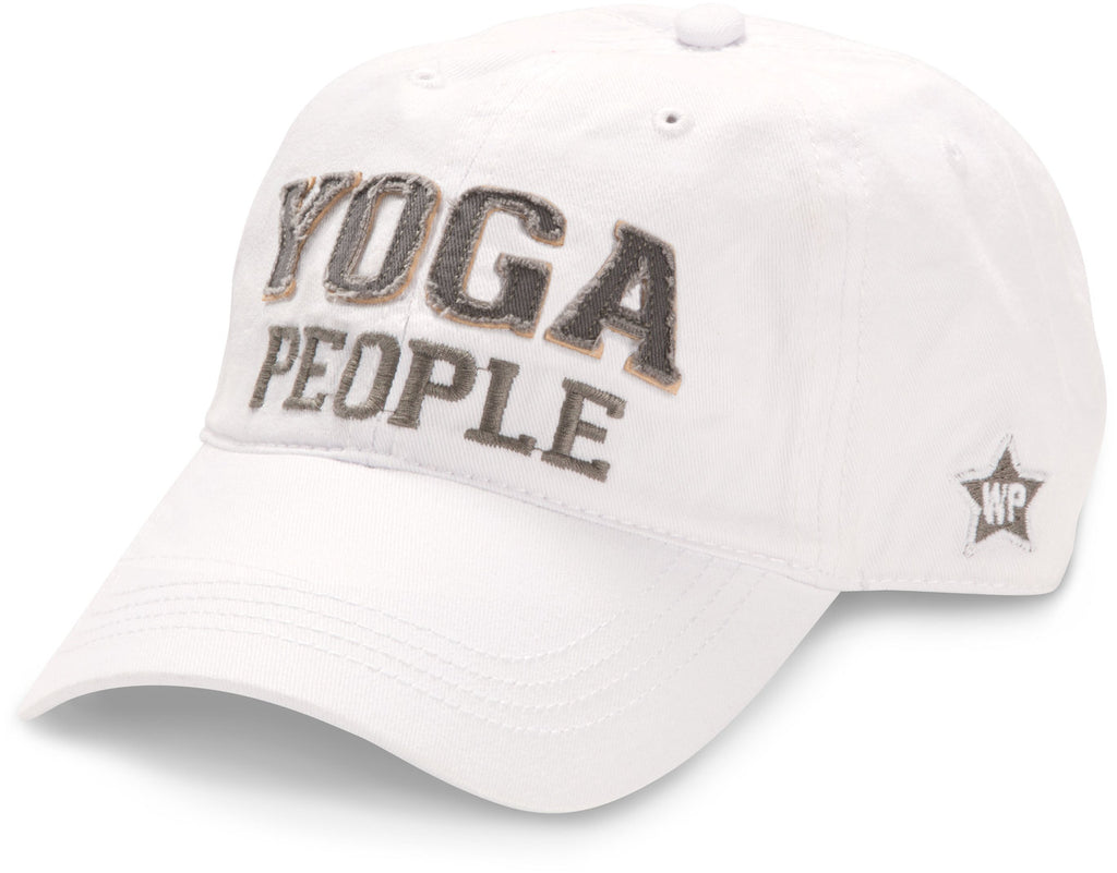 "White ""Yoga People"" Hat"