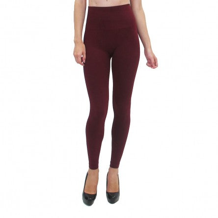 Burgundy High-Waisted Leggings