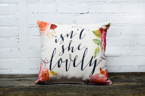 """Isn't She Lovely"" Throw Pillow"