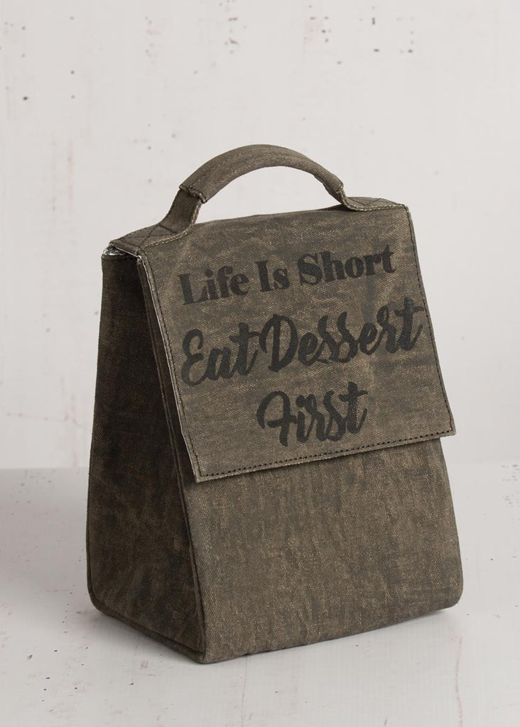 """Eat Dessert First"" Lunch Tote"