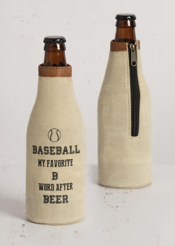 """Baseball"" Canvas Bottle Koozie"