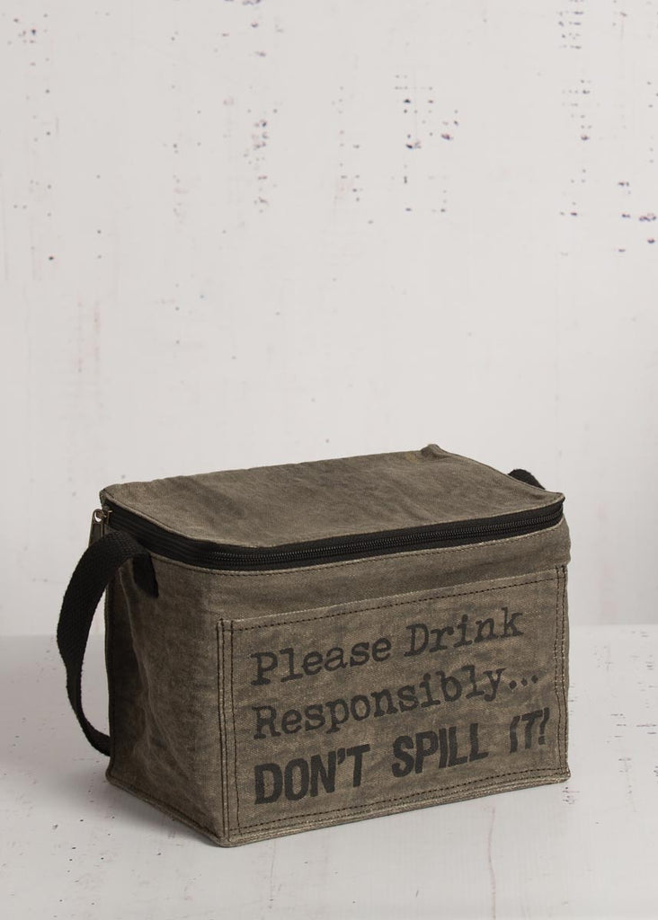 """Drink Responsibly"" 6-Pack Cooler"