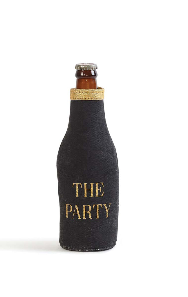 "Up-Cycled Canvas ""The Party"" Bottle Coozie"