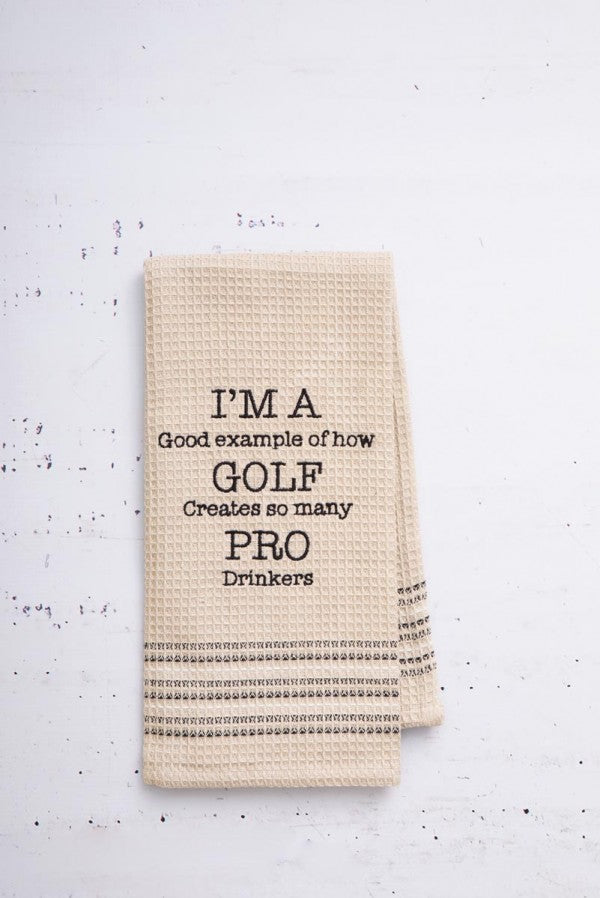 """Golf"" Dishtowel"