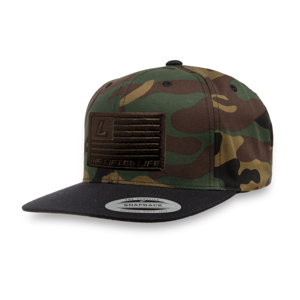 The Lifted Life Camo Patch Flatbill - Lifted Life