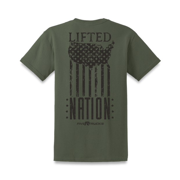 Lifted Nation Flag Tee - Lifted Life