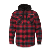 Quilted Flannel Full-Zip Hooded Logo Jacket - Lifted Life