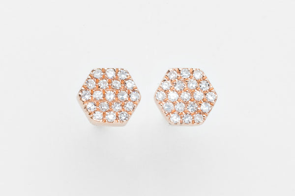 Sparkle Hex Earrings