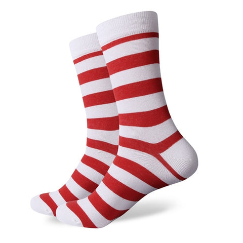 Striped Socks - White/Red