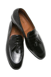 Tassel Loafer - Croco Black