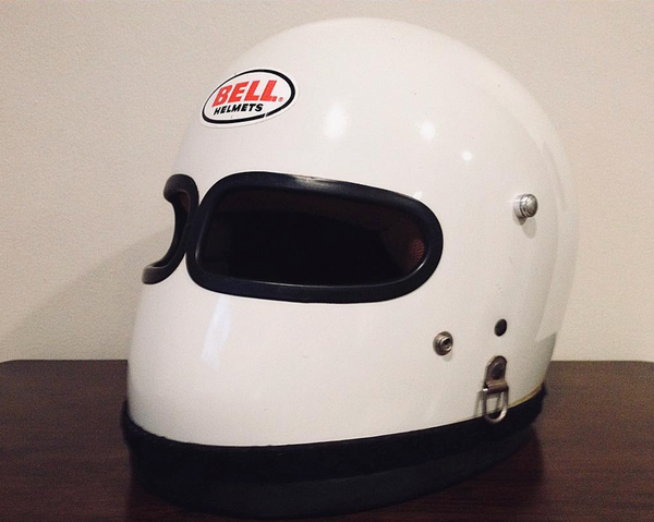 Vintage Custom Motorcycle Helmet white