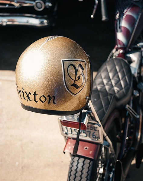 Vintage Custom Motorcycle Helmet Gold