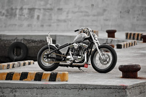 2Loud Grey Matter Harley Davidson Sportster XL1200 hardtail custom bobber chopper motorcycle
