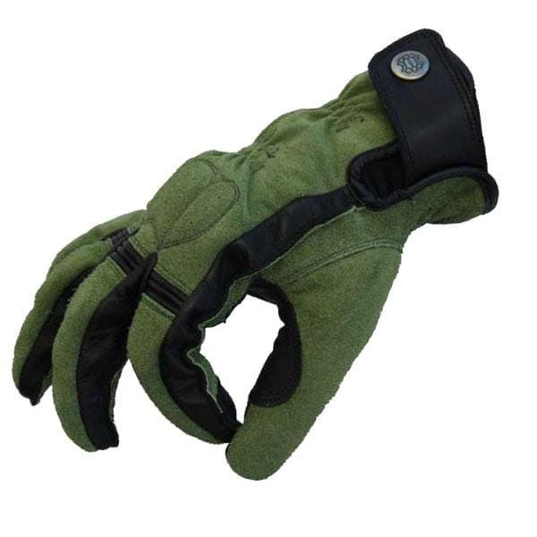 Bobberbrothers Apparel Gloves Motorradhandschuh Cross Stitch Olive