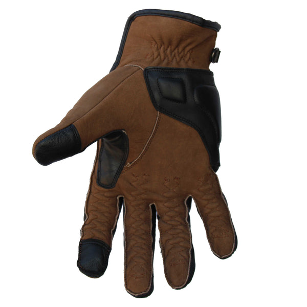 Bobberbrothers Apparel Gloves Motorradhandschuh Cross Stitch Wood
