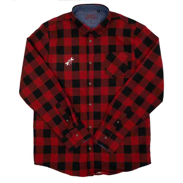 Bobberbrothers Flannel Shirts Biker Flannel Shirt