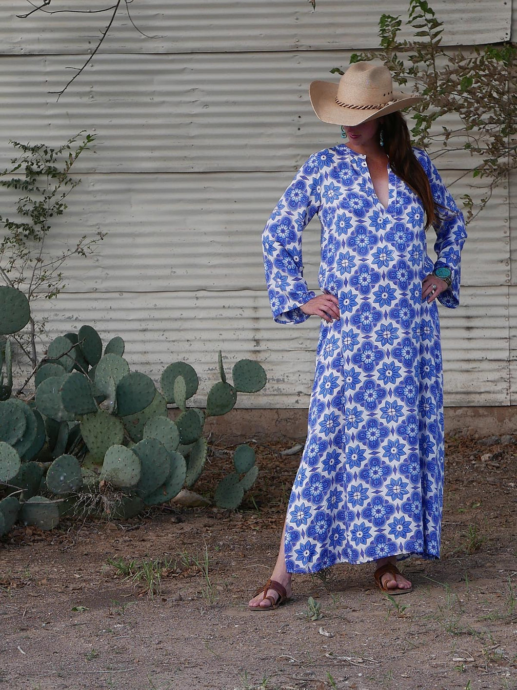 Kaftan Maxi Dress-Block No. 9