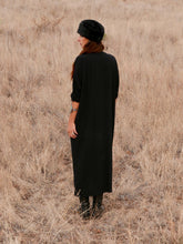 """Raw Edge Kaftan Dress"""