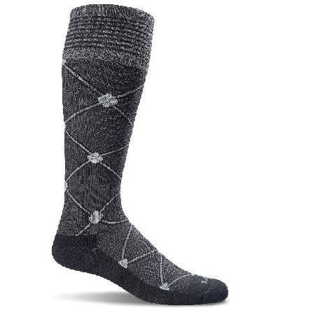 Sockwell Women's Graduated Compression Sock - Black Multi SW4W903 - BLACK MULTI