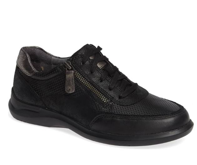 Aravon Power Comfort Tie Sneaker - Black