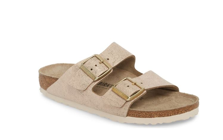 Birkenstock Arizona - Washed Metal Rose
