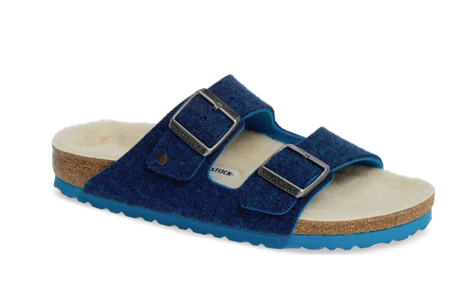 Birkenstock Arizona Happy Lamb - Blue