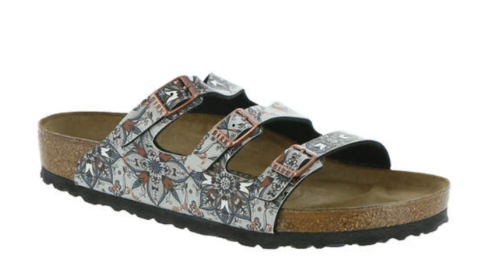 Birkenstock Florida Fresh - Boho Flowers Navy