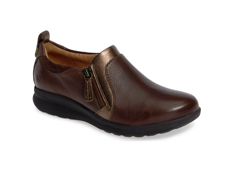 Clarks Un Adorn Zip - Dark Brown