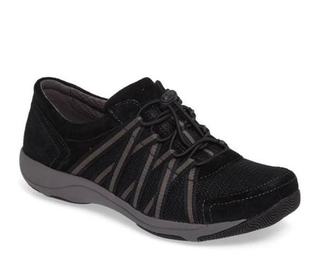 Dansko Honor - Black/Black Suede