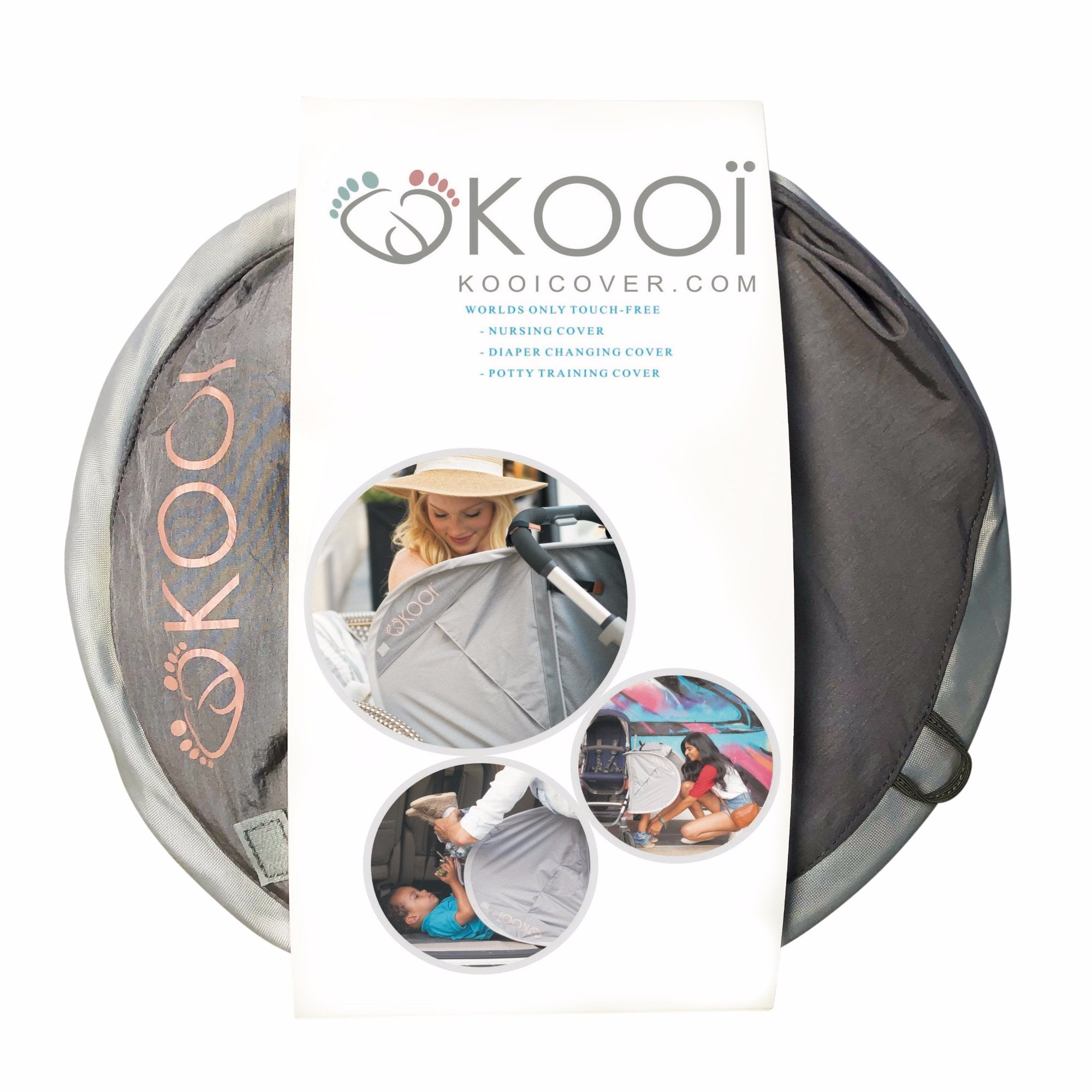 KOOÏ COVER no-touch nursing cover, diaper changing, potty training cover, swimsuit change cover