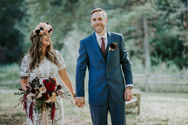 A Vintage Boho DIY Wedding