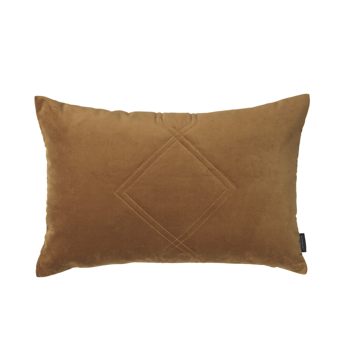 Louise Roe Diamond Quilted pude i velour, Velvet Amber 845