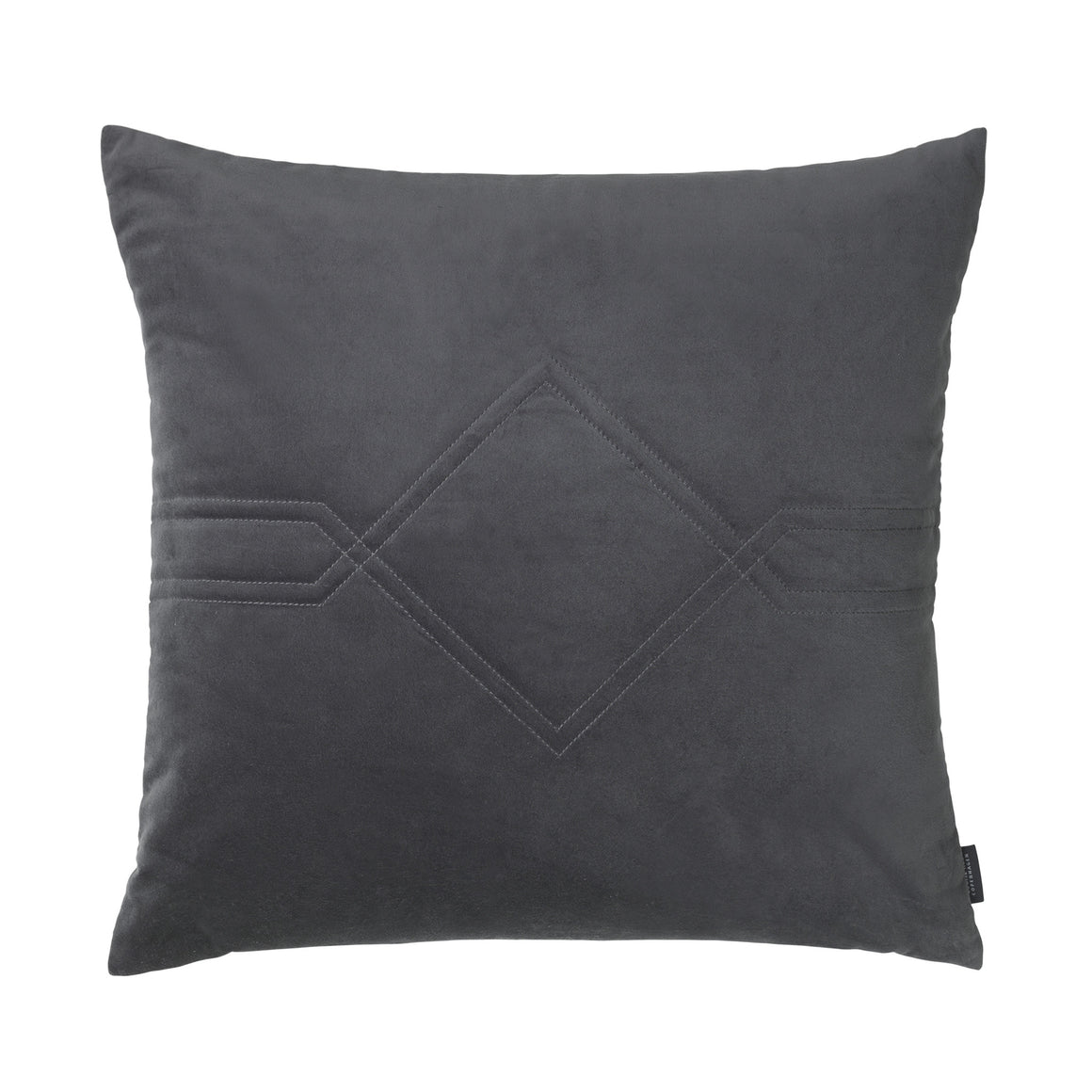 Louise Roe Diamond Quilted pude i velour, Velvet/Remix Evening Grey