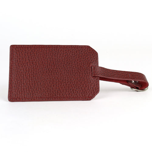 Personalised Leather Luggage Tags Bordeaux
