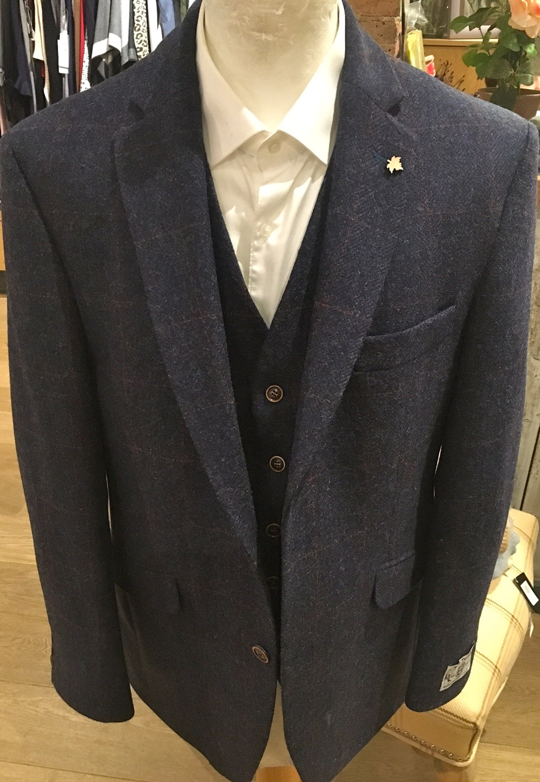 Men's Navy Tweed Jacket