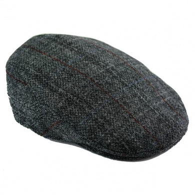 Harris Tweed Grey Flat Cap