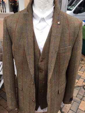 Men's Checked Tweed Jacket