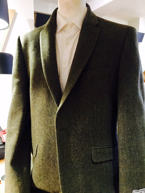 Men's Classic Green Herringbone Jacket