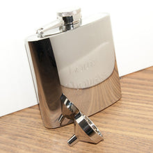 Personalised Stainless Steel Hip Flask With Funnel