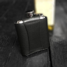 Personalised Hip Flask In Leather Case
